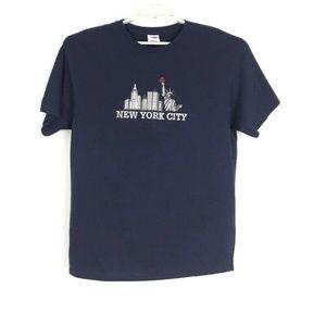 New York City Unisex Shirt Size Large Blue